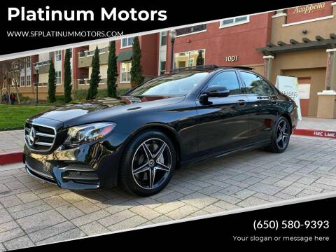2019 Mercedes-Benz E-Class for sale at Platinum Motors in San Bruno CA