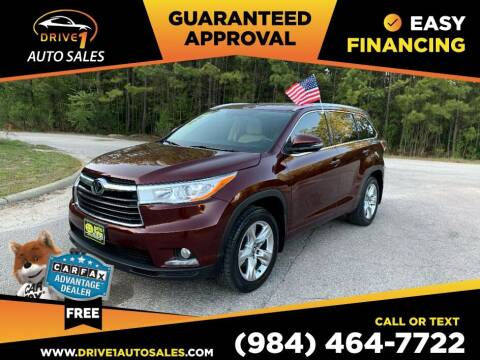 2016 Toyota Highlander for sale at Drive 1 Auto Sales in Wake Forest NC