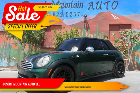 2012 MINI Cooper Convertible for sale at DESERT MOUNTAIN AUTO LLC in Tucson AZ