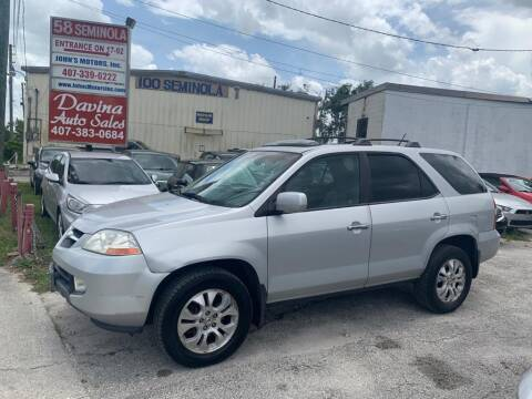 2003 Acura MDX for sale at DAVINA AUTO SALES in Orlando FL