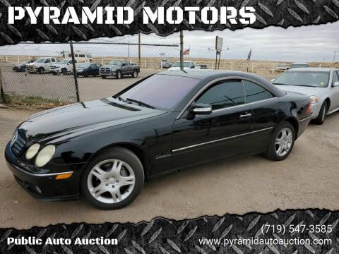 2003 Mercedes-Benz CL-Class for sale at PYRAMID MOTORS - Pueblo Lot in Pueblo CO