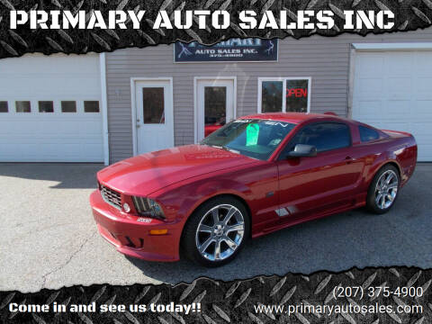 2005 Ford Mustang for sale at PRIMARY AUTO SALES INC in Sabattus ME