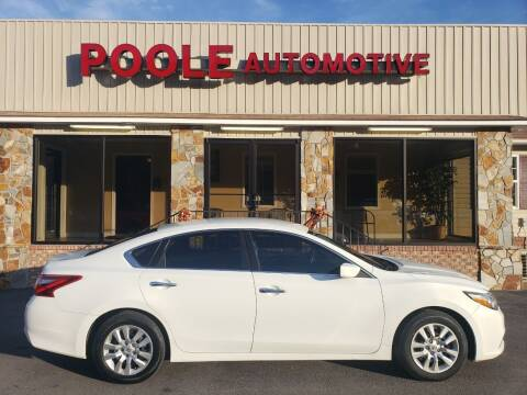 2016 Nissan Altima for sale at Poole Automotive in Laurinburg NC