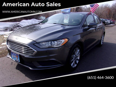 2017 Ford Fusion for sale at American Auto Sales in Forest Lake MN