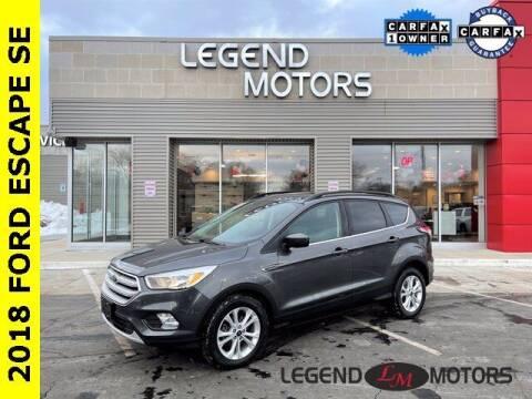 2018 Ford Escape for sale at Legend Motors of Detroit - Legend Motors of Waterford in Waterford MI