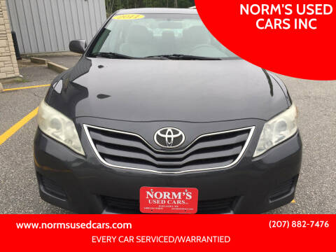 2011 Toyota Camry for sale at NORM'S USED CARS INC in Wiscasset ME