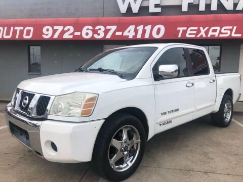 2005 Nissan Titan for sale at Texas Luxury Auto in Cedar Hill TX