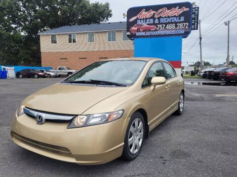 2007 Honda Civic for sale at Auto Outlet Sales and Rentals in Norfolk VA
