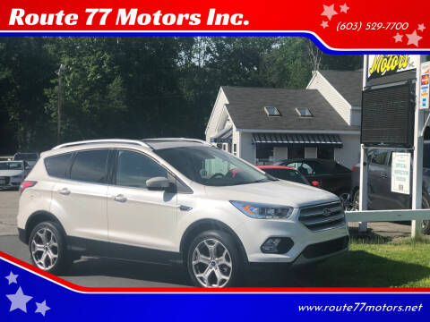 2017 Ford Escape for sale at Route 77 Motors Inc. in Weare NH