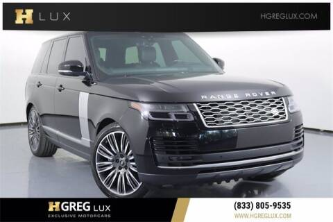 2021 Land Rover Range Rover for sale at HGREG LUX EXCLUSIVE MOTORCARS in Pompano Beach FL