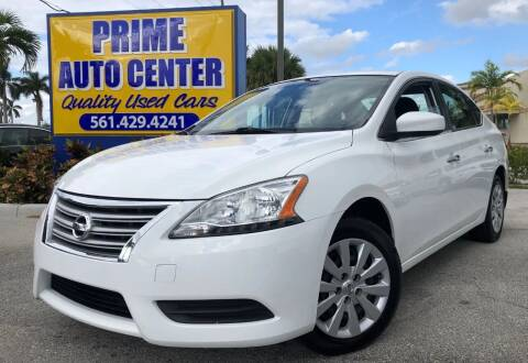 2015 Nissan Sentra for sale at PRIME AUTO CENTER in Palm Springs FL