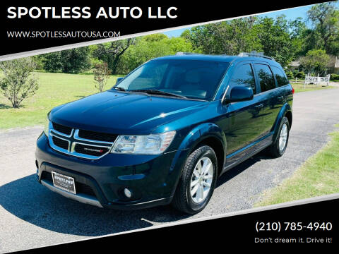 2013 Dodge Journey for sale at SPOTLESS AUTO LLC in San Antonio TX