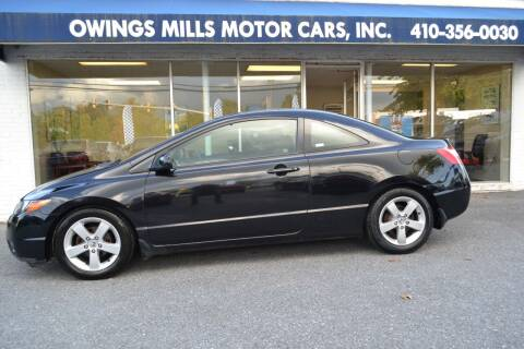 2007 Honda Civic for sale at Owings Mills Motor Cars in Owings Mills MD