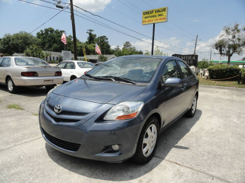 2007 Toyota Yaris for sale at GREAT VALUE MOTORS in Jacksonville FL