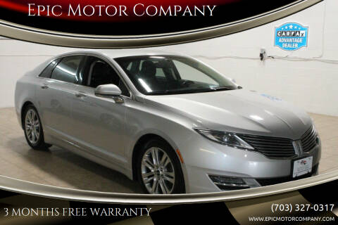 2015 Lincoln MKZ Hybrid for sale at Epic Motor Company in Chantilly VA