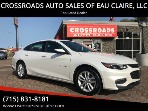2017 Chevrolet Malibu for sale at CROSSROADS AUTO SALES OF EAU CLAIRE, LLC in Eau Claire WI