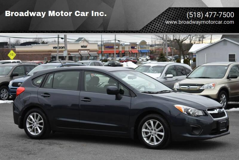 2014 Subaru Impreza for sale at Broadway Motor Car Inc. in Rensselaer NY