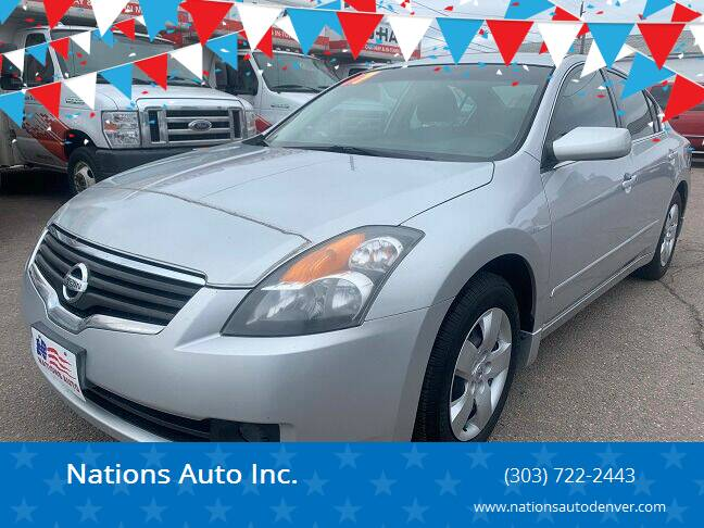 2007 Nissan Altima for sale at Nations Auto Inc. in Denver CO