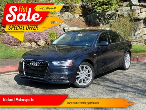 2016 Audi A4 for sale at Mudarri Motorsports in Kirkland WA