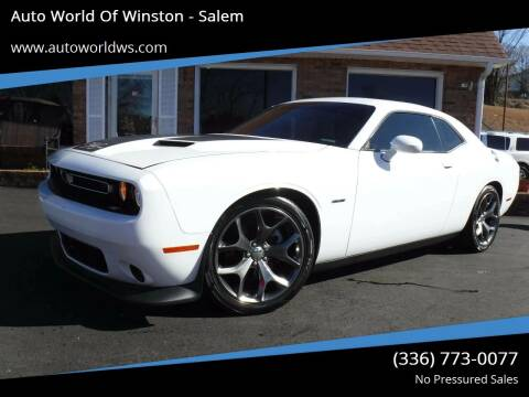 2015 Dodge Challenger for sale at Auto World Of Winston - Salem in Winston Salem NC
