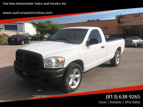 2008 Dodge Ram Pickup 1500 for sale at Out Run Automotive Sales and Service Inc in Tampa FL