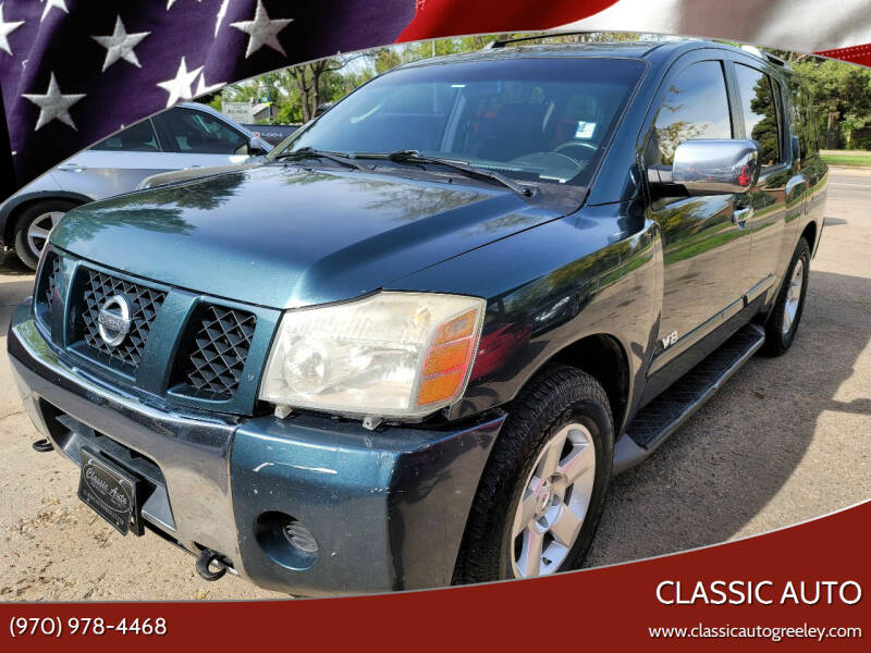 2007 Nissan Armada for sale at Classic Auto in Greeley CO