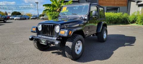 2005 Jeep Wrangler for sale at Persian Motors in Cornelius OR