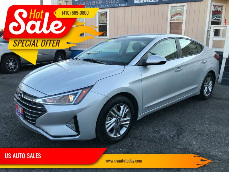 2019 Hyundai Elantra for sale at US AUTO SALES in Baltimore MD