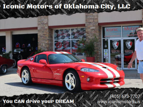 2002 Dodge Viper for sale at Iconic Motors of Oklahoma City, LLC in Oklahoma City OK