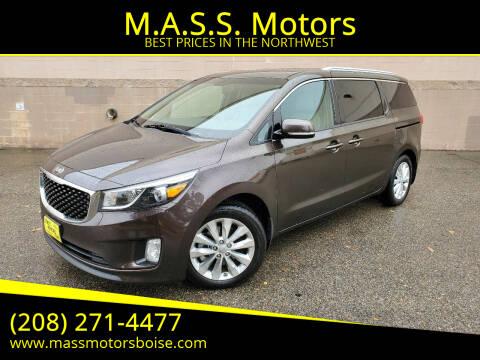 2016 Kia Sedona for sale at M.A.S.S. Motors in Boise ID