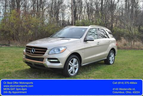 2012 Mercedes-Benz M-Class for sale at Or Best Offer Motorsports in Columbus OH