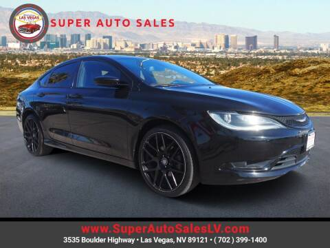 2015 Chrysler 200 for sale at Super Auto Sales in Las Vegas NV