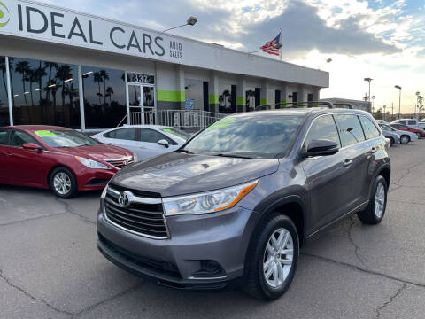 2014 Toyota Highlander for sale at Ideal Cars in Mesa AZ