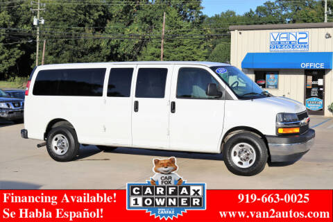 2019 Chevrolet Express Passenger for sale at Van 2 Auto Sales Inc in Siler City NC