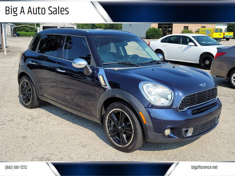 2012 MINI Cooper Countryman for sale at Big A Auto Sales Lot 2 in Florence SC