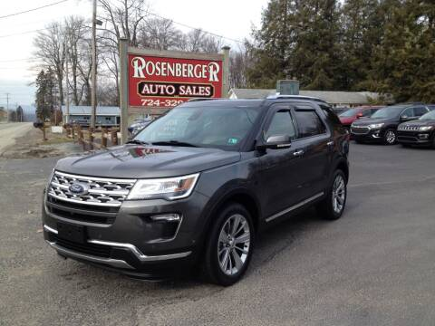 2018 Ford Explorer for sale at Rosenberger Auto Sales LLC in Markleysburg PA