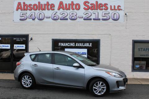 2013 Mazda MAZDA3 for sale at Absolute Auto Sales in Fredericksburg VA