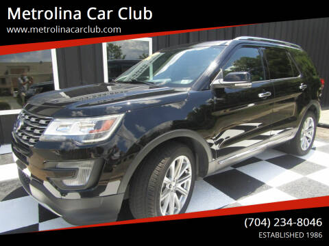 2017 Ford Explorer for sale at Metrolina Car Club in Matthews NC