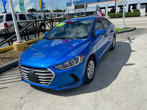 2017 Hyundai Elantra for sale at Navarro Auto Motors in Hialeah FL
