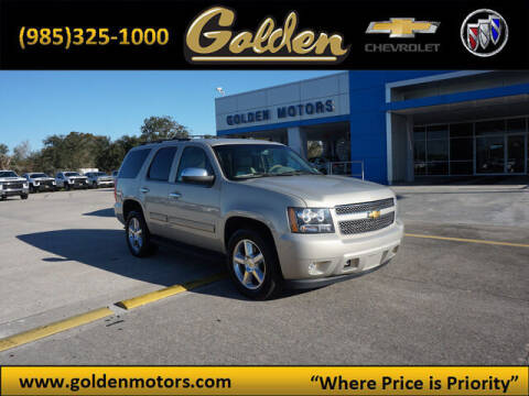 2012 Chevrolet Tahoe for sale at GOLDEN MOTORS in Cut Off LA