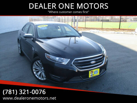 2017 Ford Taurus for sale at DEALER ONE MOTORS in Malden MA