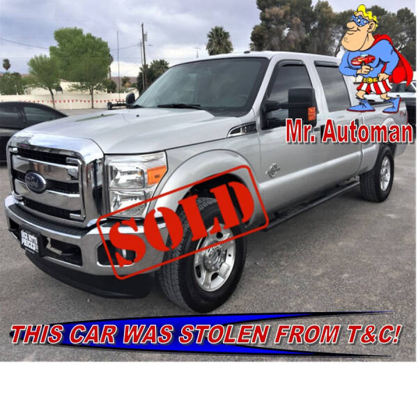 2015 Ford F-250 Super Duty for sale at TOWN & COUNTRY AUTO SALES in Overton NV