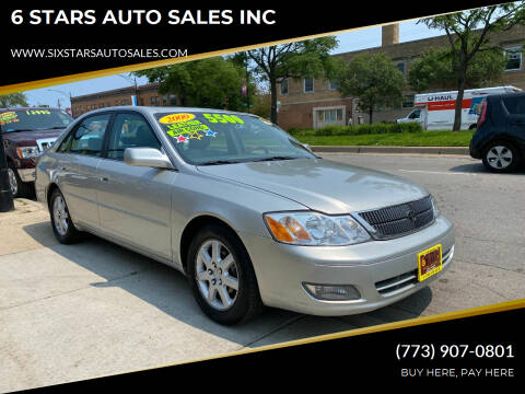 2000 Toyota Avalon for sale at 6 STARS AUTO SALES INC in Chicago IL