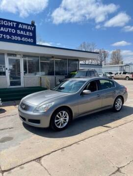2009 Infiniti G37 Sedan for sale at Right Away Auto Sales in Colorado Springs CO