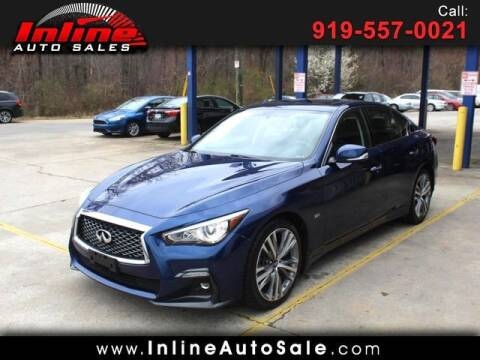 2018 Infiniti Q50 for sale at Inline Auto Sales in Fuquay Varina NC