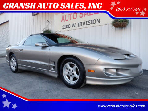 2001 Pontiac Firebird for sale at CRANSH AUTO SALES, INC in Arlington TX