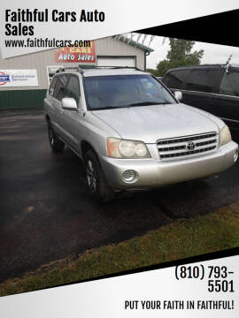 2003 Toyota Highlander for sale at Faithful Cars Auto Sales in North Branch MI