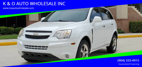 2012 Chevrolet Captiva Sport for sale at K & O AUTO WHOLESALE INC in Jacksonville FL