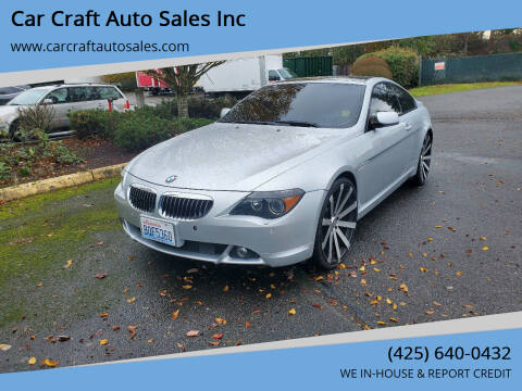2005 BMW 6 Series for sale at Car Craft Auto Sales Inc in Lynnwood WA