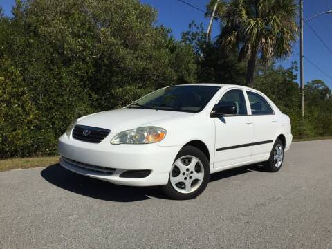 2007 Toyota Corolla for sale at VICTORY LANE AUTO SALES in Port Richey FL